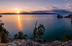贝加尔湖日落