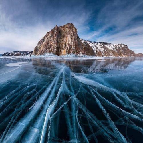 贝加尔湖蓝冰